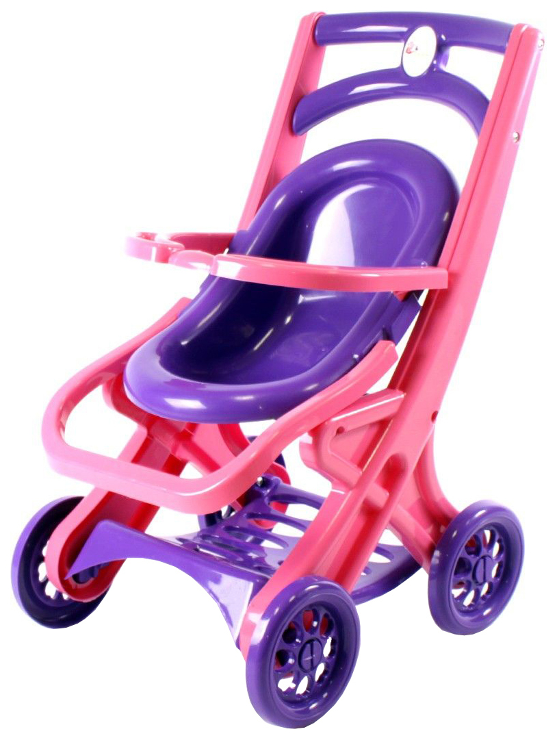 Купить Коляска для кукол Doloni Прогулочная 0122/02 Розовый-фиолетовый, Коляски для кукол