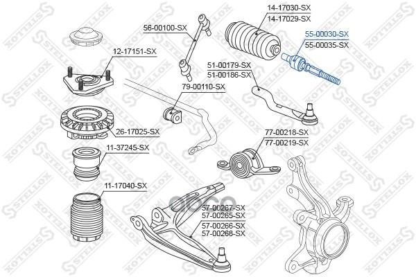 Рулевая тяга Stellox 5500030SX