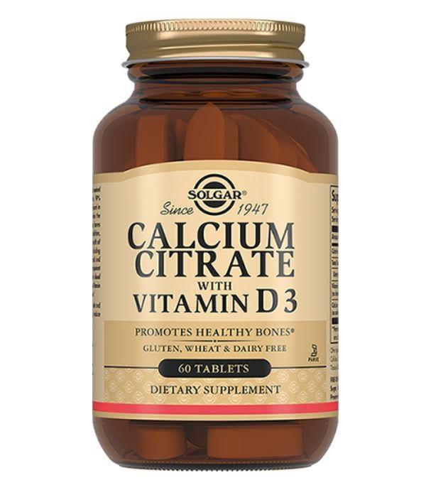 Кальция цитрат с витамином D3 табл, 60 шт. Solgar