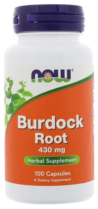 Купить Добавка для здоровья NOW Burdock Root 100 капс. натуральный