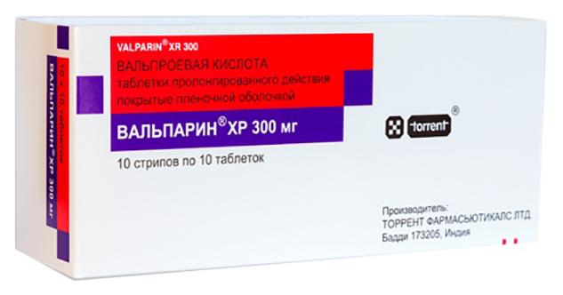 Вальпарин ХР таблетки пролонг 300 мг 100 шт.