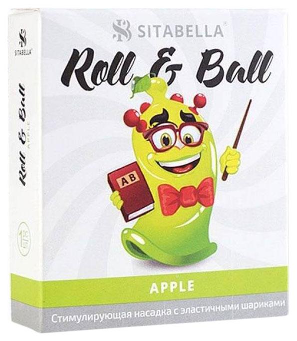Купить Презерватив-насадка Roll Ball Apple, Sitabella