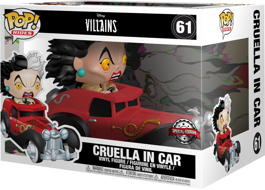 Фигурка Funko POP! Movies: 101 Dalmatians: Cruella in car