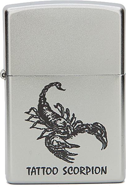 Зажигалка Zippo №205 Tattoo Scorpion Satin Chrome