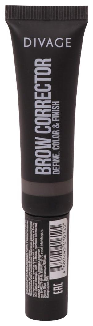 Гель для бровей Divage Brow corrector темно коричневый