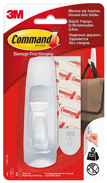 3M Крючок белый Command® большой,1 шт.