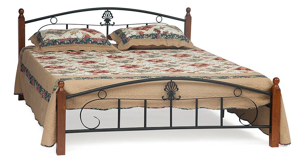 Кровать двуспальная TetChair Румба 160х200 см, коричневый/черный