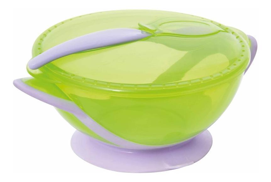 Купить Тарелочка-контейнер на присоске с ложкой, Тарелочка-контейнер на присоске с ложкой, Мир детства, Наборы детской посуды