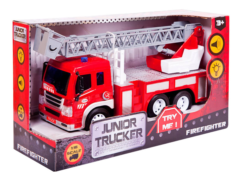 Купить Пожарная, Машина пожарная Dave Toy (с лестницей) 33015 1:16, Dave Toys, Спецслужбы
