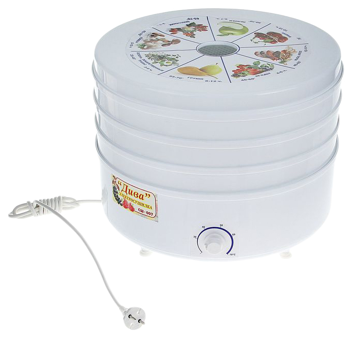 Сушилка для овощей и фруктов Ротор СШ-007 white