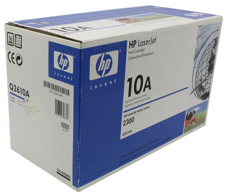 Картридж для лазерного принтера HP 10А (Q2610A) черный, оригинал