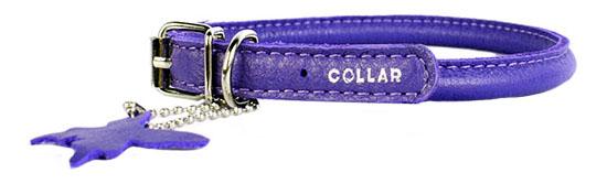 Ошейник для собак Collar WAUDOG Glamour круглый для длинношерстных фиолетовый 10мм 39-47см