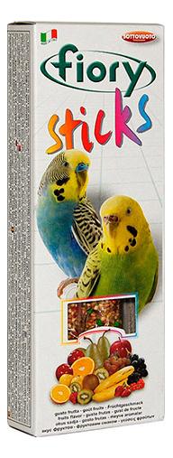 Лакомства для птиц fiory палочки для попугаев с фруктами, 60г фото