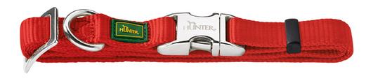Ошейник Hunter Smart ALU-Strong с Металлической застежкой M, обхват шеи 40-55 см, красный