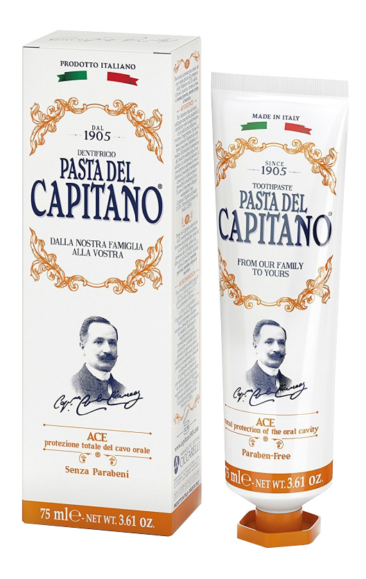 Купить Зубная паста Pasta del Capitano Ace мята и ментол 75 мл, ace 75 мл