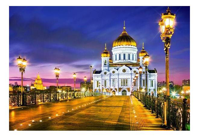 Пазл Castorland Храм Христа Спасителя, Москва 1000 деталей