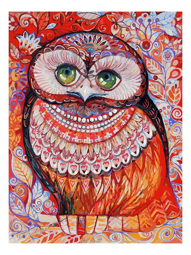 Раскраска по номерам Белоснежка Медовая сова