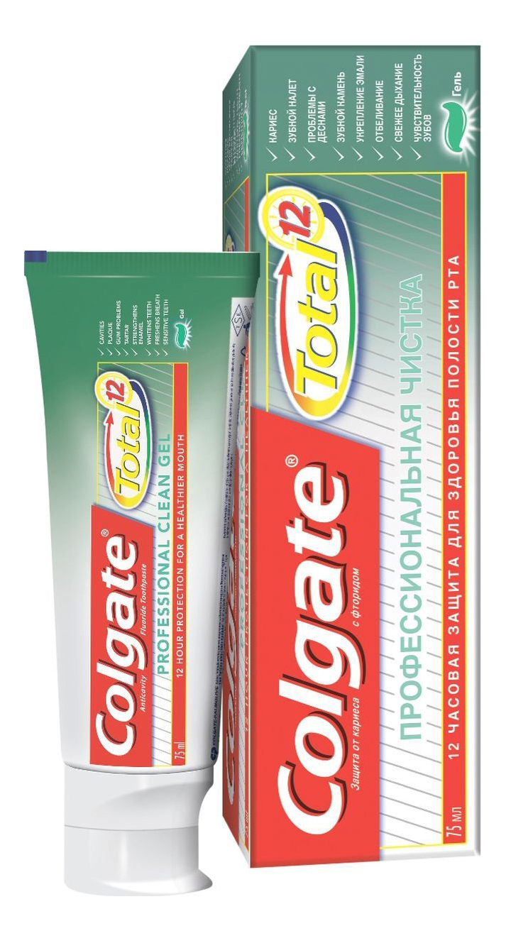 Зубная паста Colgate TOTAL 12 Профессиональная чистка 75 мл