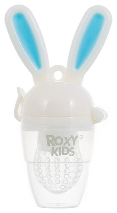 Купить Ниблер для прикорма Roxy-kids BUNNY TWIST голубой, Roxy Kids, Ниблеры