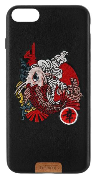 Чехол-накладка Remax Stitch Koi fish для Apple iPhone 7 Black