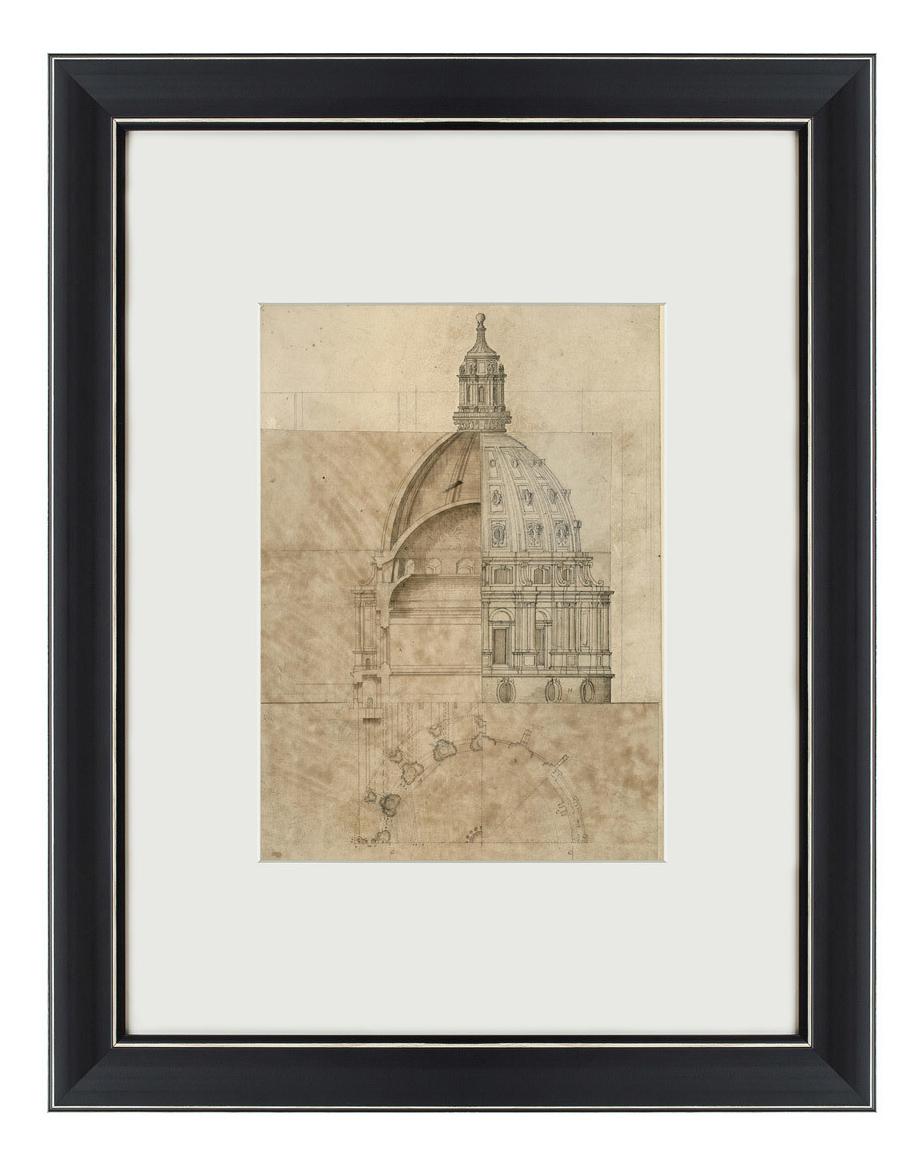 Картина Картины в Квартиру Эскиз собора Святого Павла 47 х 60 см фото