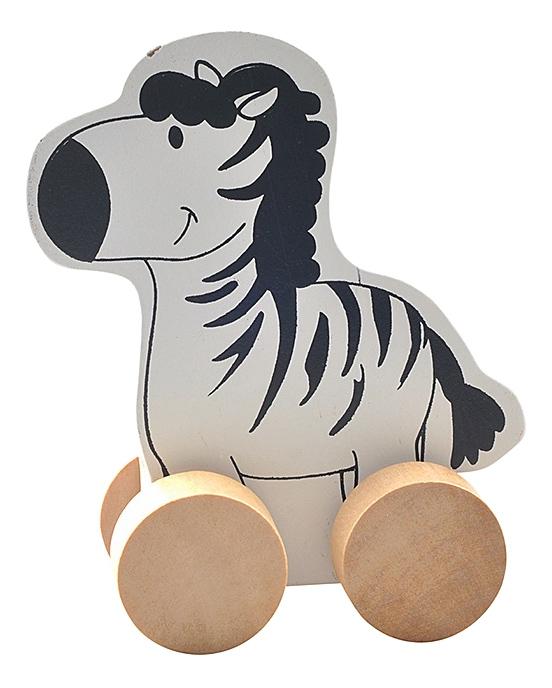 Купить Каталка детская Мир Деревянных Игрушек Зебра, Игрушечные машинки