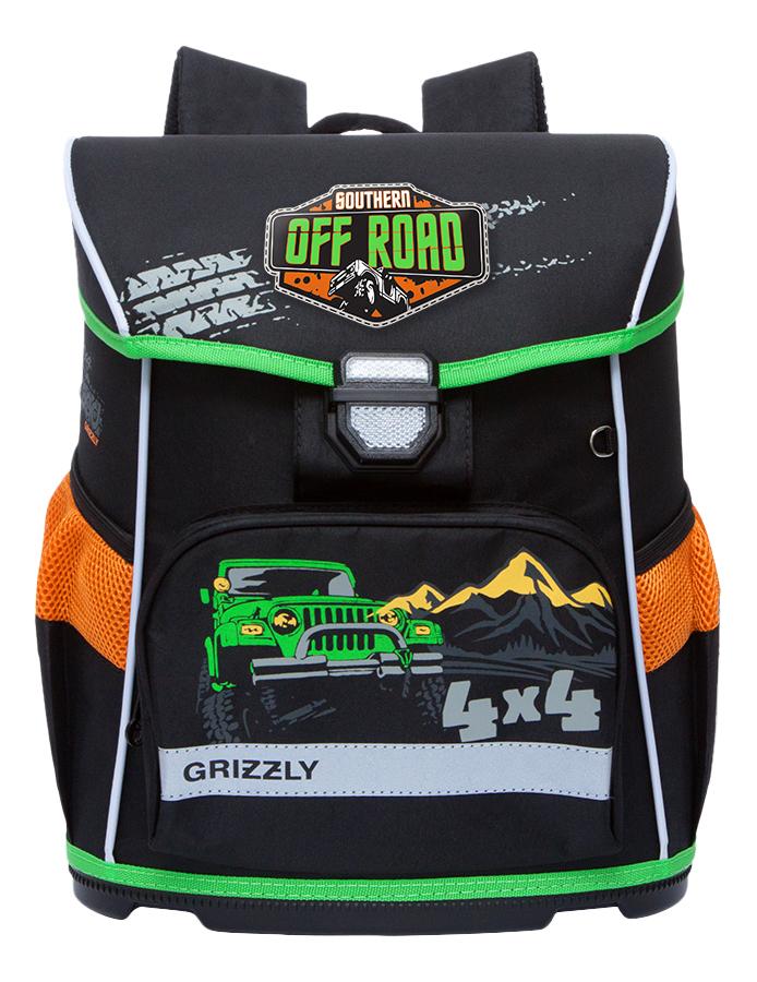 Купить Рюкзак детский Grizzly RA-774-1 школьный черный,