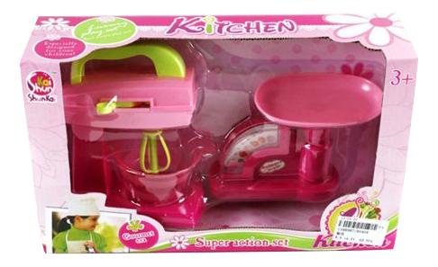 Купить Набор кухонной техники детский Shantou Gepai Миксер и весы 9040A, Детская кухня и аксессуары