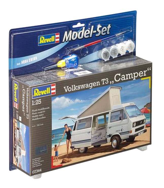Купить Сборная модель автомобиль Volkswagen t3 camper Revell 67344, Модели для сборки