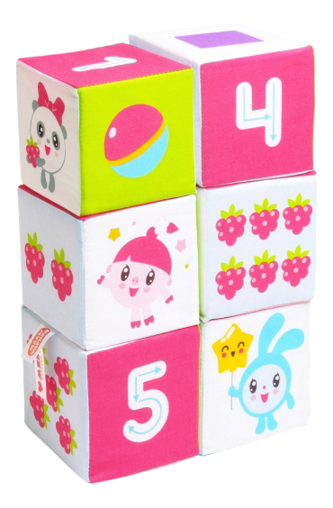 картинка Кубики мягкие Учим формы Цвет и Счет Малышарики Мякиши Р92435 от магазина Bebikam.ru