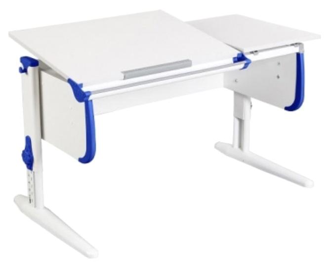 Парта Дэми White Double СУТ-25 С раздельной столешницей Белый/Синий