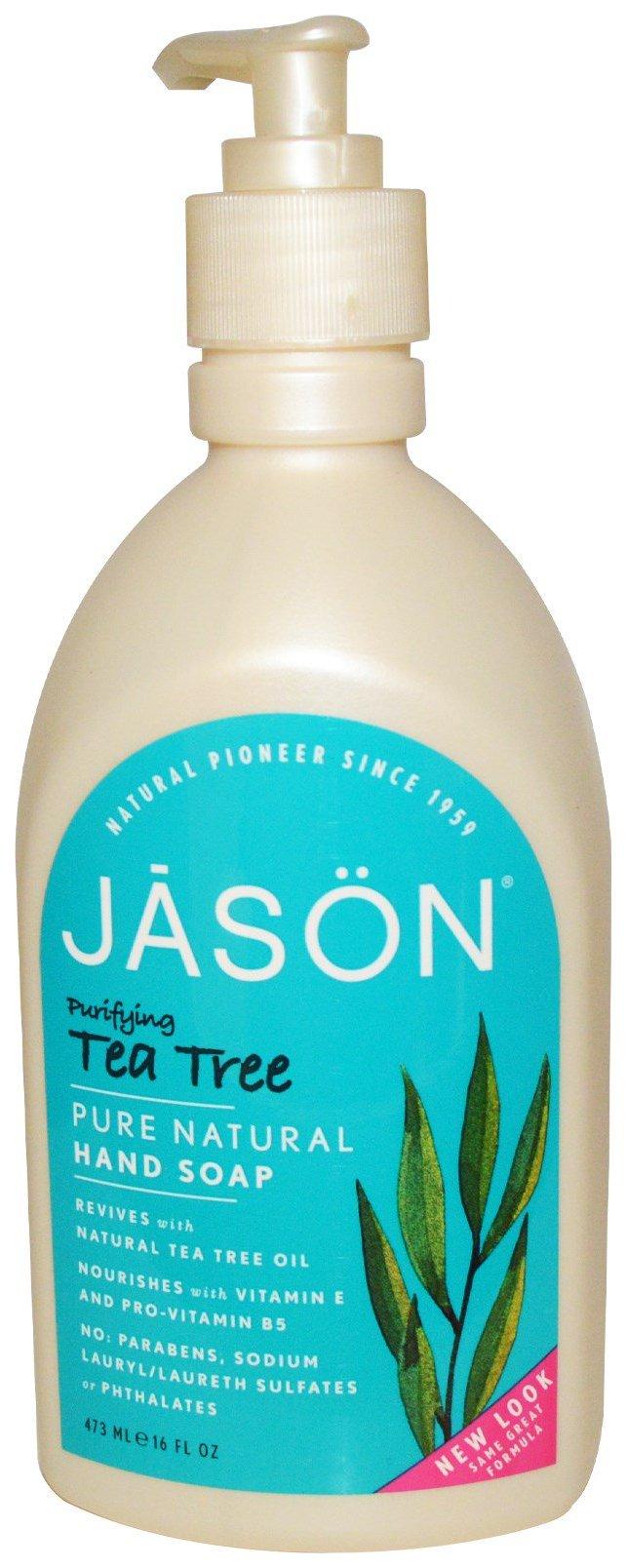 Купить Жидкое мыло Jāsön Purifying Tea Tree Hand Soap 473 мл, JASON