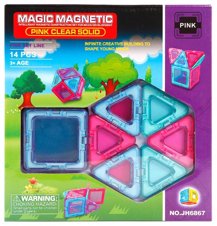 Купить Конструктор магнитный Наша Игрушка Magic magnetic 14 элементов JH6867, Наша игрушка, Магнитные конструкторы