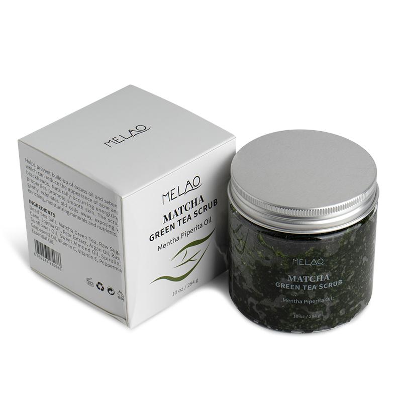 Скраб Melao с зеленым чаем Матча, спирулиной