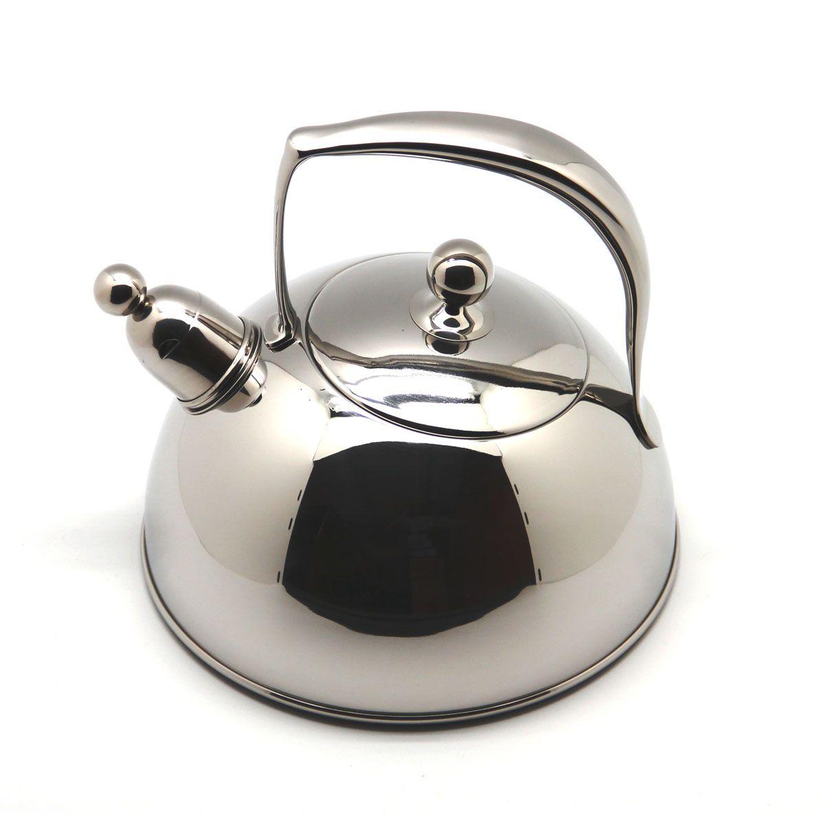 Чайник Silampos Жасмин 411307302620 2л со свистком серый стальной