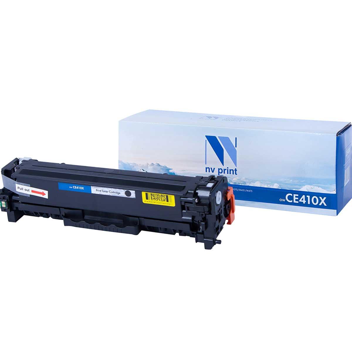 Картридж для лазерного принтера NV Print CE410XBK, черный фото