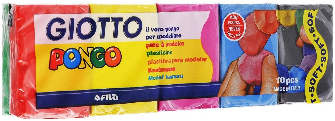 Пластилин восковой FILA Giotto 10 цветов по 50 г