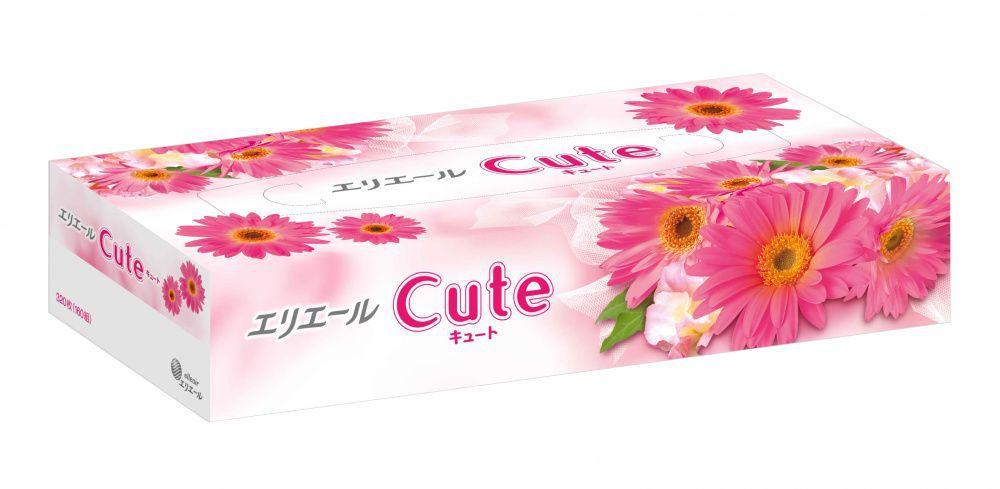 Салфетки бумажные в коробке Elleair Cute 160 штук