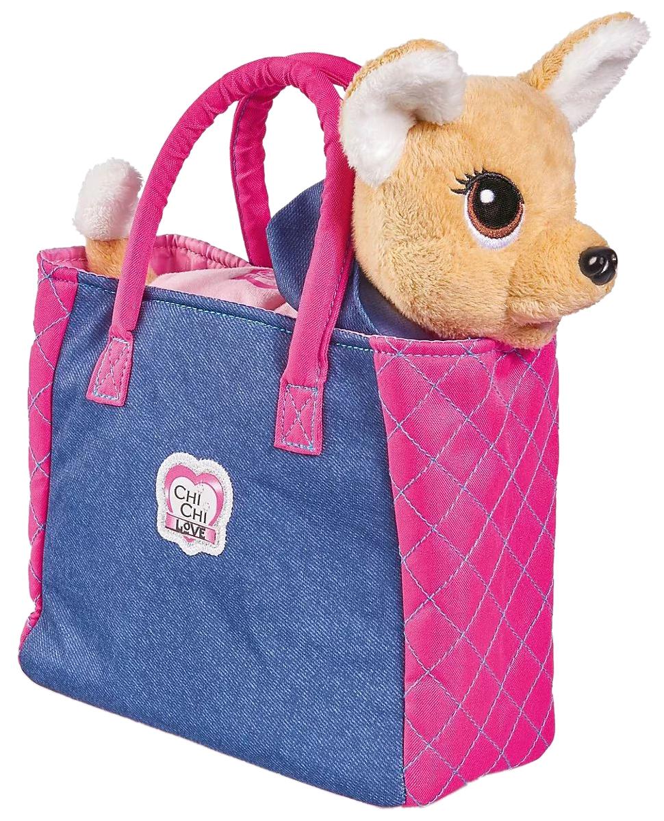 """Плюшевая собачка Chi-Chi love """"Городская мода"""" с сумочкой и стикерами, 20 см  Simba"""