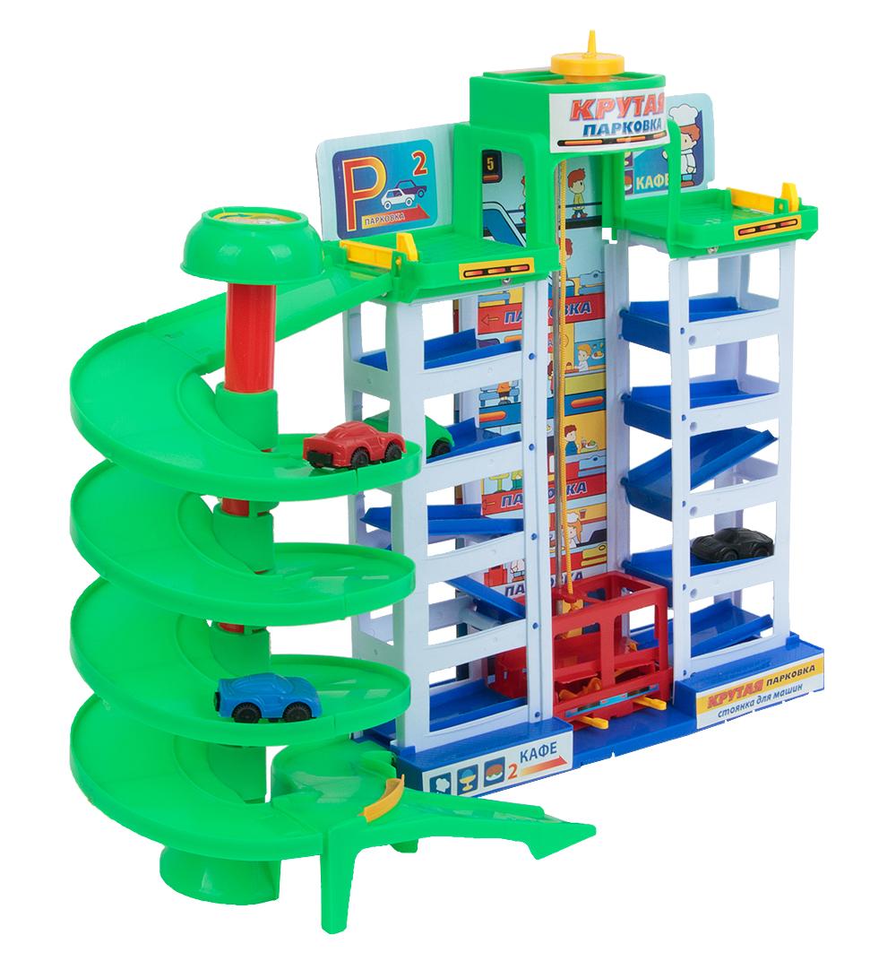 Купить Парковка Играем Вместе 6 уровней, 4 машинки в комплекте, Детские парковки