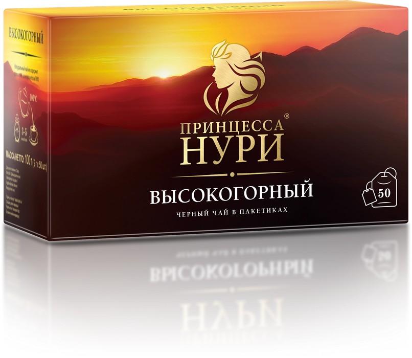 Чай черный Принцесса Нури высокогорный байховый 50 пакетиков