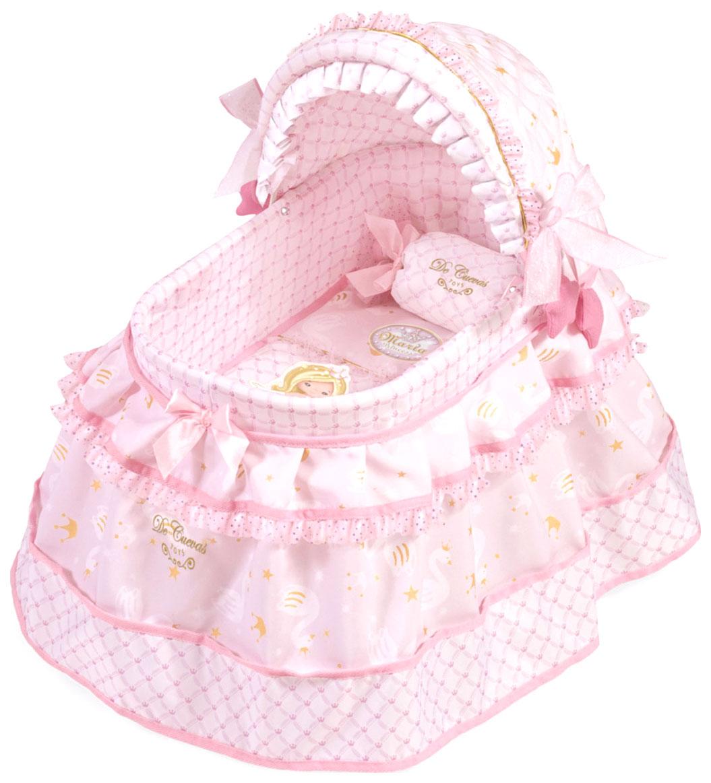 """Кроватка для куклы с козырьком """"Мария"""", 46 см DeCuevas"""