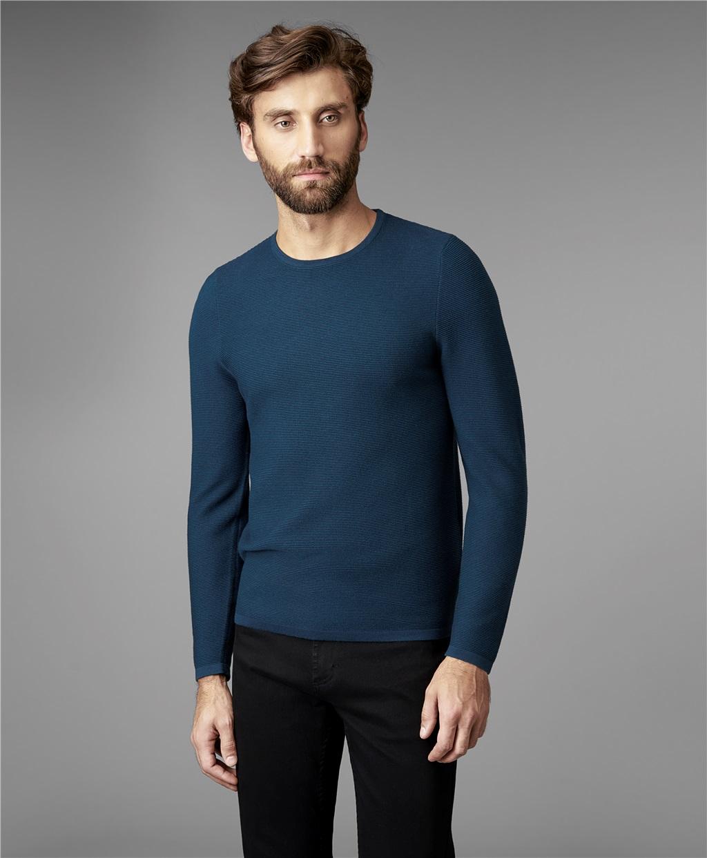 Пуловер мужской HENDERSON KWL-0685 зеленый 50 RU фото
