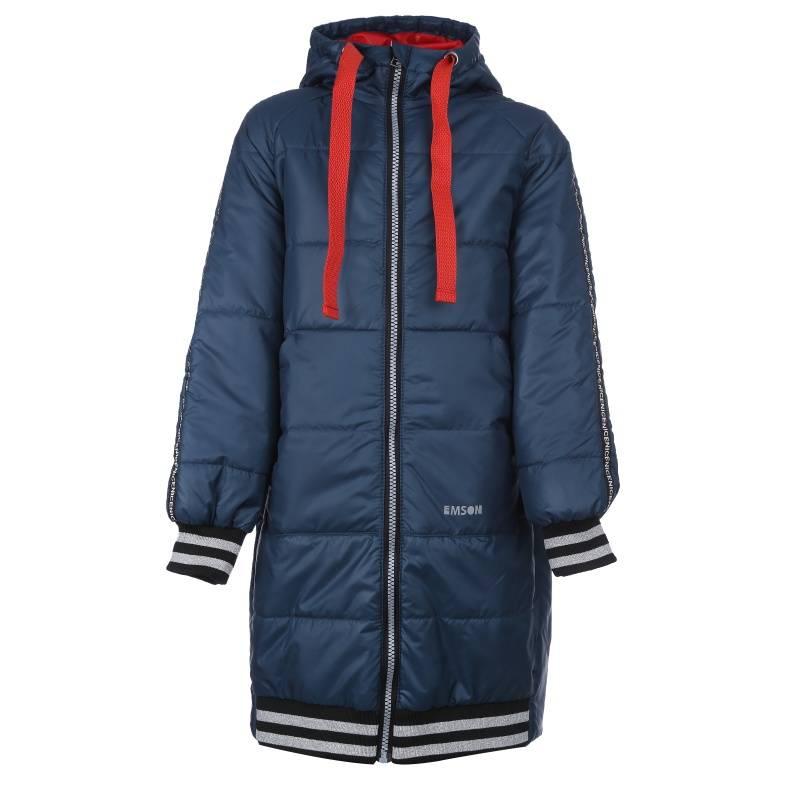 Купить 646, Пальто Милли Emson, цв. темно-синий, 152 р-р, Пальто для девочек