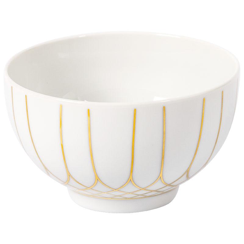 Тарелка для каши 334мл Vista Alegre TERRACE, цвет белый, золотой