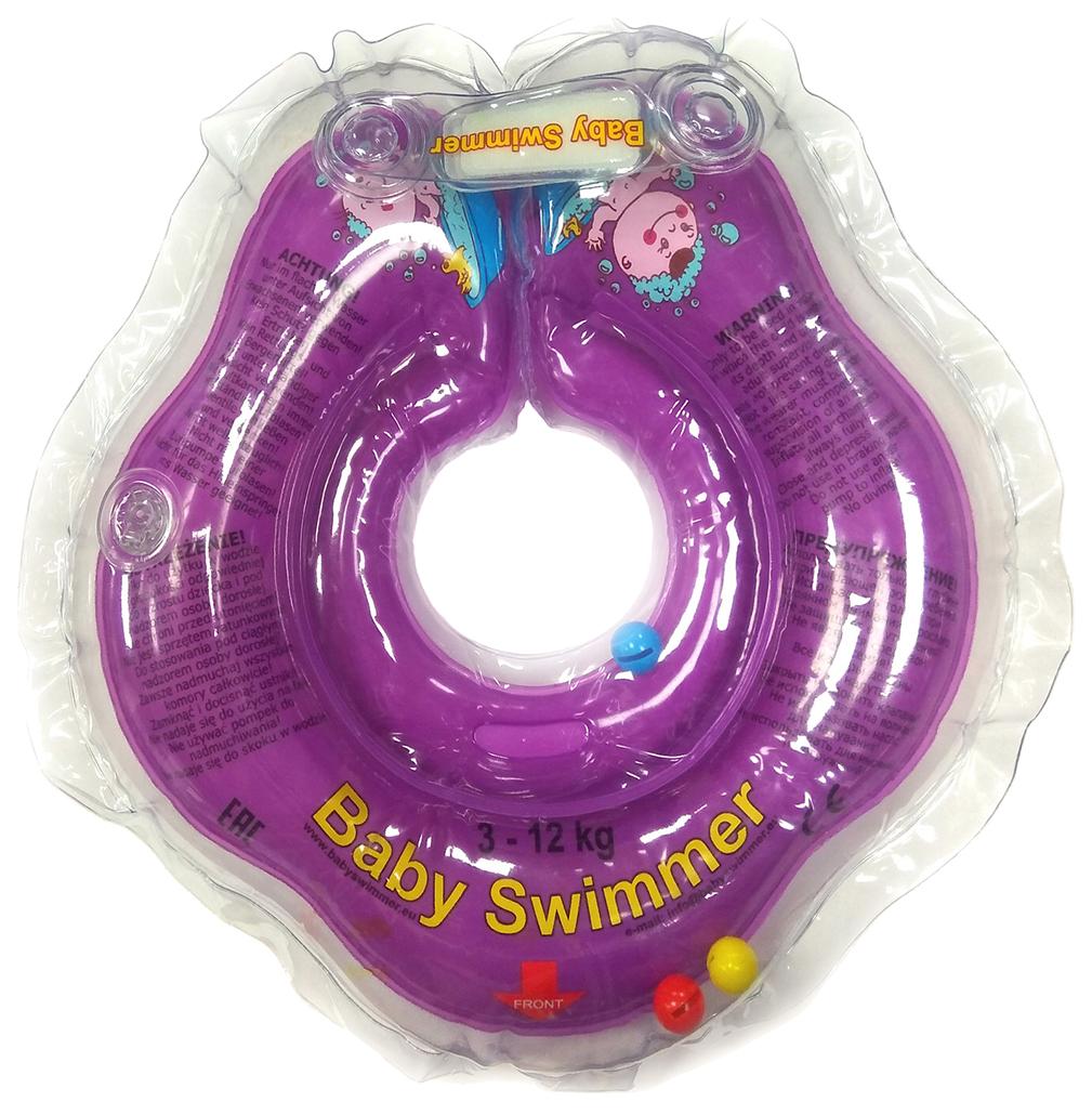 Круг для купания ( 3-12кг) Фиолетовый Полуцвет+внутри погремушка