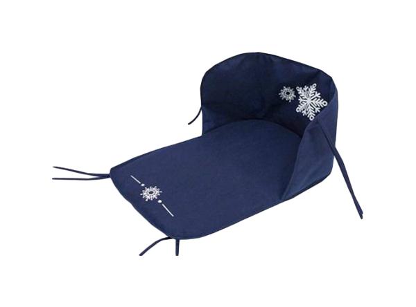 Сиденье для санок Лидер синее