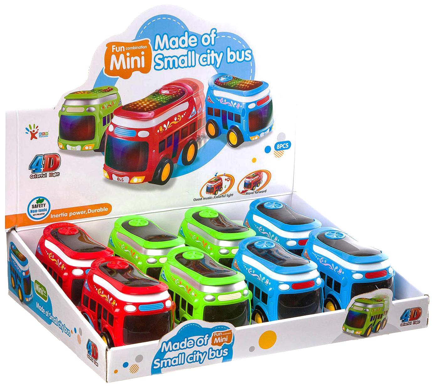 Купить Автобус S+S Toys D/B 8 шт. 3 вида арт.2018-03A+., Городской транспорт