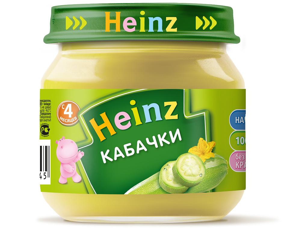 Пюре овощное Heinz кабачки, 4 мес., 12шт