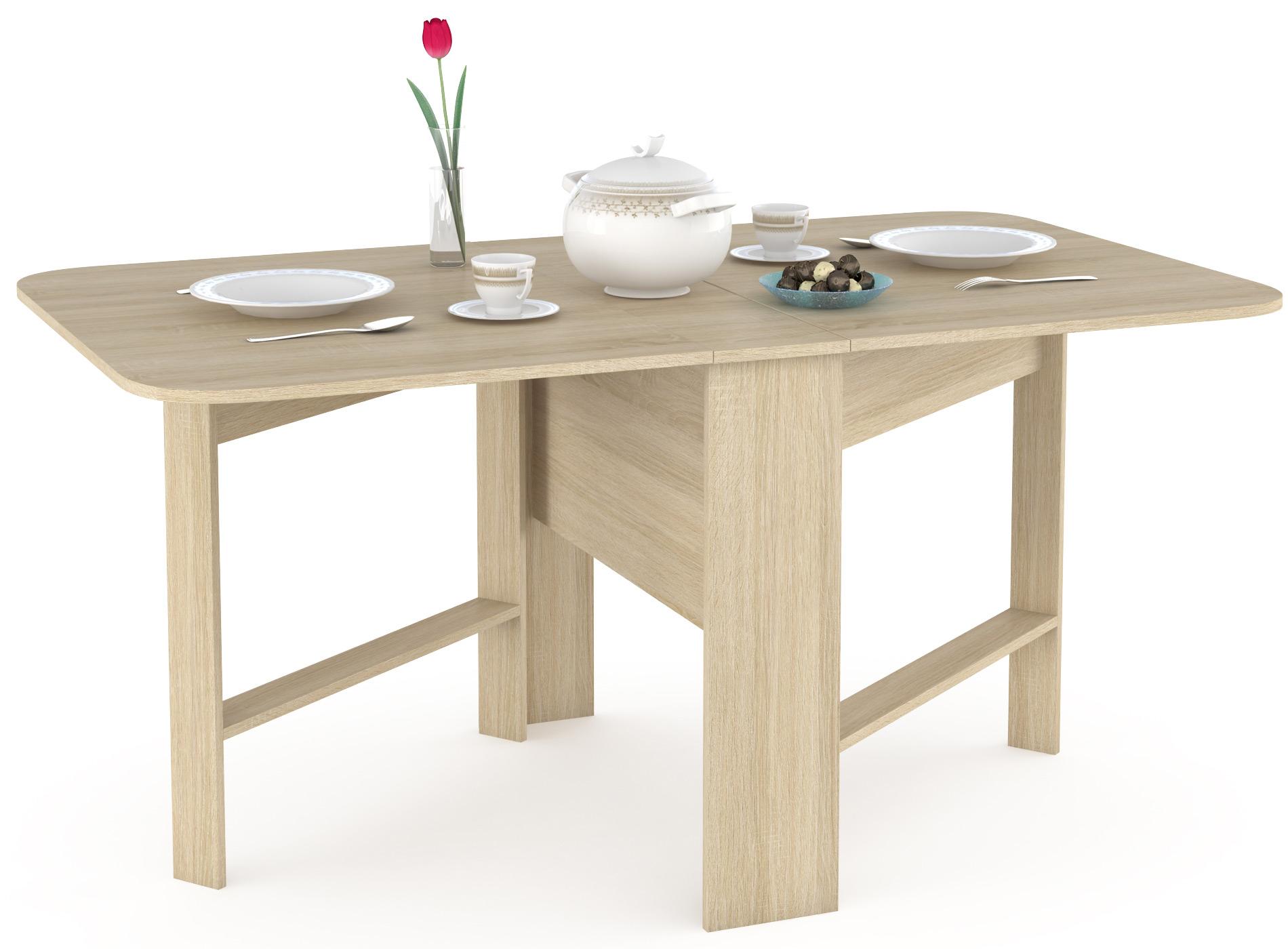 Кухонный стол Mobi Стол-книжка узкий Глория 609 дуб сонома 26х90х75 см фото